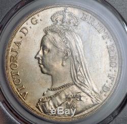 1889, La Grande-bretagne, La Reine Victoria. Jubilé D'argent Bust Couronne. Pcgs Ms-62