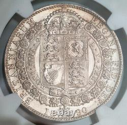 1890, Grande-bretagne, Reine Victoria. Une Preuve Comme Silver 1⁄2 Crown Coin. Ngc Ms63(+)