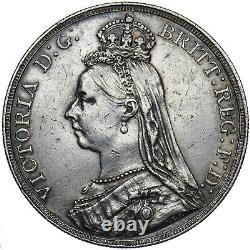 1891 Crown Victoria Pièce D'argent Britannique Très Nice