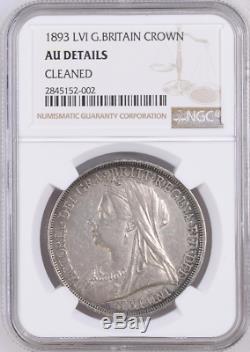 1893 Date De LVI Key Sterling Couronne Grande-bretagne Km # 783 Ngc Au-détails Victoria