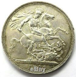 1893 Reine Victoria Argent LVI Couronne Monnaie High Grade Grande-bretagne