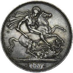 1896 LX Crown Victoria British Silver Coin Nice