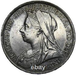 1896 LX Crown Victoria British Silver Coin V Nice