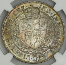 1897 Grande-bretagne 1/2 Couronne Ms66+ Ngc 943596-37
