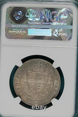 1897 Ngc Ms64 Grande-bretagne 1/2 Couronne! Numéro B7352