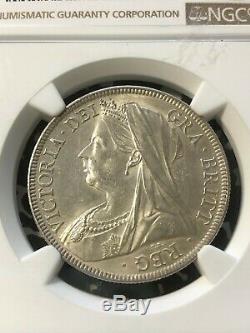 1899 Grande-bretagne 1/2 Demi-couronne Ngc Ms62 Lot # G223 Argent