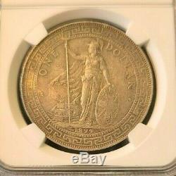 1899 Grande-bretagne Argent Dollar Trade T 1 Ngc Au $ 55 Surfaces D'origine Rare