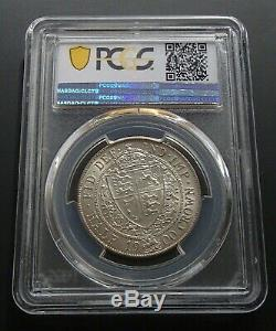 1900 Grande-bretagne Ongecirculeerd Argent 1/2 Demi-couronne Coin Victoria Pcgs Ms62