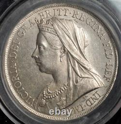 1900, Grande-bretagne, Reine Victoria. Pièce Certifiée Silver Crown. Cgs Royaume-uni 70