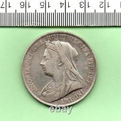 1900 LXIV Reine Victoria Old Head Silver Capsuled Crown