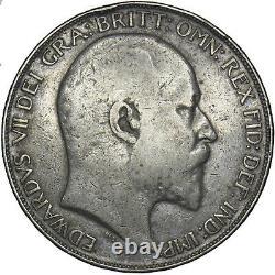 1902 Couronne Edward VII Pièce D'argent Britannique