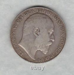 1902 Edward VII Silver Crown En Bon État Fin Ou Légèrement Meilleur