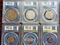 1902 Edward VII Silver Matt Proof 9 Coin Set Crown To Maundy 1d