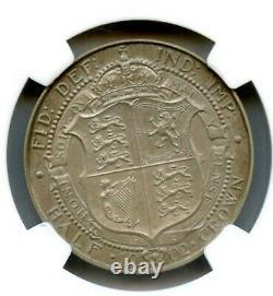 1902 Grande-bretagne 1/2 Couronne Ngc Preuve 63 Matte