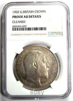 1902 Grande-bretagne Angleterre Proof Edward VII Crown Coin Ngc Proof Au Details