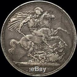 1902 Grande-bretagne Couronne Km # 803 Edward VII Argent Étrangères Coin Scarce 256k