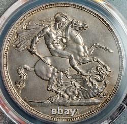 1902, Grande-bretagne, Édouard Vii. Couronne D'argent Certifié Matte Proof. Pcgs Pr-63