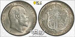1902 Grande-bretagne GB Uk Half Crown 1/2 Cr Pcgs Ms64 Mint Etat Unc Bu