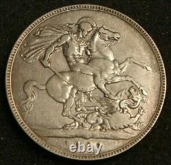 1902 Grande-bretagne Royaume-uni Edward VII Silver Crown Coin Anno Regni II