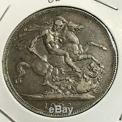 1902 Grande-bretagne Silver King Edward Couronne Monnaie 1 An Problème Scarce