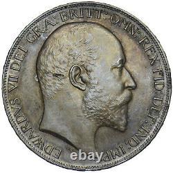 1902 Matt Proof Crown Edward VII Pièce D'argent Britannique Superbe