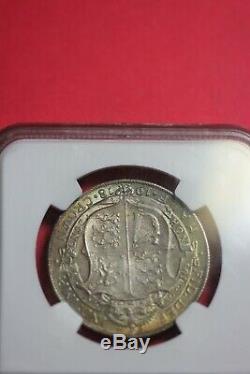 1918 Ms 65 Toned Grande-bretagne 1/2 Couronne Ngc Certifié Graded Slab Oce 1277