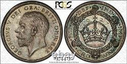 1927 Great Britain Proof Set 3d, 6d, Shilling, Florin, 1/2 Cr Crown Pcgs