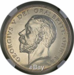 1927 Uk Grande-bretagne Silver Crown George V Preuve De Pièces Ngc Pf 63 Rare 15k Minted