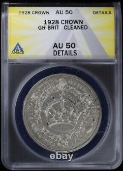 1928 Grande-bretagne Couronne Anacs Au 50 Détails Sur George V Silver Non Circulé