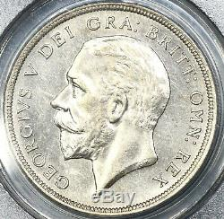 1929 Pcgs Ms 63 George V Couronne Grande-bretagne Silver Coin 494 Minted (17122105d)