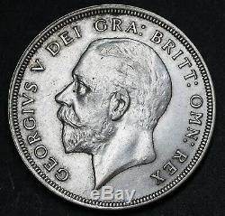 1929 Royaume-uni Grande-bretagne Couronne Couronne Km # 836 Silver Coin Rare 4994 Minted Ef