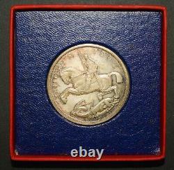 1935 Raised Edge Proof Crown. Superbe