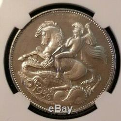 1936 Daté Grande-bretagne Silver Crown Edward VIII Ngc Mme 67 Scarce 1987 Edition