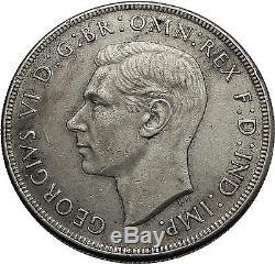 1937 Australie Big Argent Couronne Monnaie Grande-bretagne Au Royaume-uni Le Roi George VI I57935