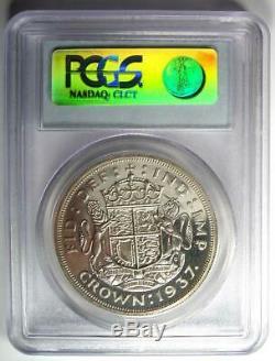 1937 Grande-bretagne George VI Couronne Coin Pcgs Pr66 (pf66) Rare Coin