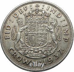 1937 Grande-bretagne Royaume-uni W Royaume-uni George VI Grande Couronne Argent Coin I72492
