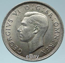 1937 Grande-bretagne Royaume-uni W Royaume-uni George VI Grande Couronne Argent Coin I82929