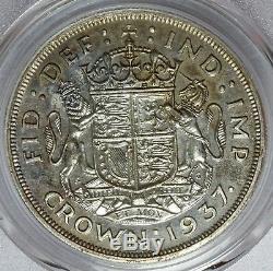 1937 Grande-bretagne Une Couronne En Argent Épreuve Numismatique Coin Pcgs Pr 65 Km # 857