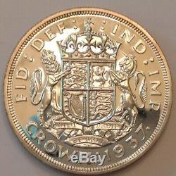1937 Preuve Grande-bretagne George VI Silver Crown