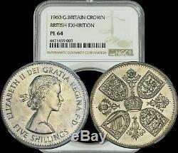 1960 Grande-bretagne Couronne Britannique Exposition Ngc Pl64 Rare A Must Have