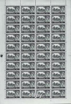 1963 Bradbury Wilkinson Multi Crown Châteaux Full Set In Sheets Unmounted Mint