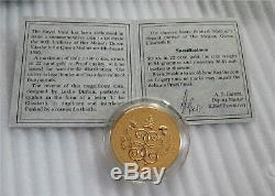 1990 Grande-bretagne 5 Livres D'or Couronne Proof 90ème Anniversaire Coa # 156