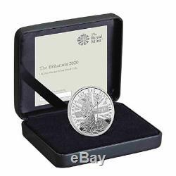 2020 Grande-bretagne 1 Oz Britannia £ 2,999 Proof Silver Coin