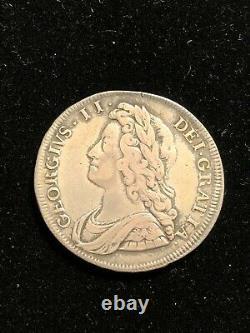 Angleterre 1731 Silver Half Crown, George Ii, S-3692 Vf Pretty Coin, Grande-bretagne