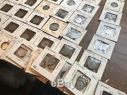 Années 1800-années 1900 Énorme Grande-bretagne Piece En Argent Lot 117 Pieces Shilling Couronne Réduite