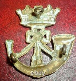Cap Badges-original Victorian Crown Pre 1898 Duke Of Cornwalls Light Infantry