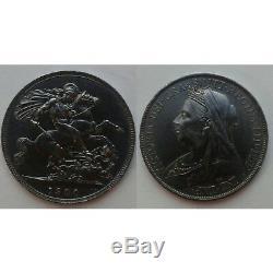 Csc Grande-bretagne Uk Crown 1900 Lxiv. Km # 783. Silver Dollar Thaler Victoria Pièce