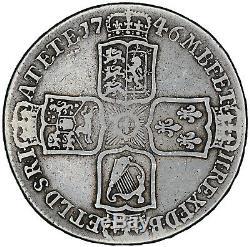 Demi-couronne Lima 1746 Pièces D'argent George II De Grande-bretagne