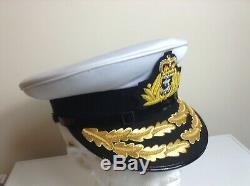 Drapeau Royal Navy Britannique Amiral Rang D'officiers Casquette / Chapeau Queens Couronne