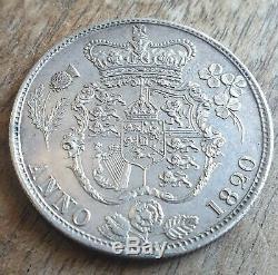 Exceptionnel George IIII Argent Half Crown 1820 Grande-bretagne